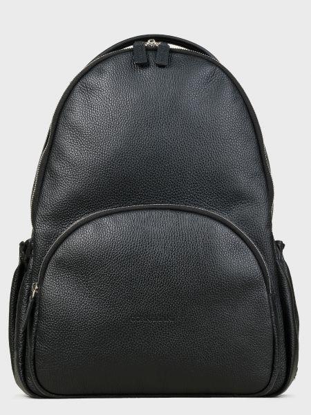 Черный кожаный рюкзак на молнии Corneliani