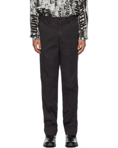 Брючные черные брюки с поясом Schnaydermans