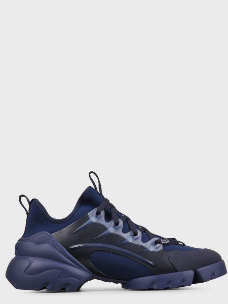 Кожаные кроссовки - синие Christian Dior