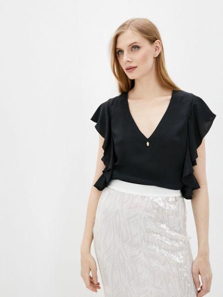 Черная блузка с оборками Cavalli Class