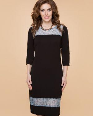 Вечернее платье миди со вставками Belluche