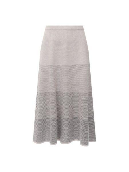 Серая кашемировая юбка миди D.exterior