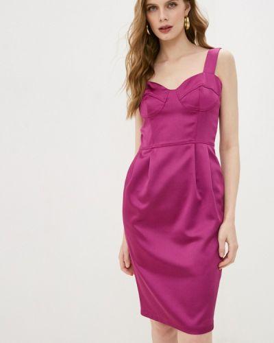 Фиолетовое платье-футляр Gregory