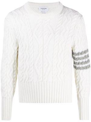 Prążkowany pulower wełniany zapinane na guziki Thom Browne
