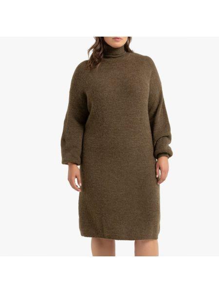 Облегающее платье в рубчик платье-пиджак La Redoute