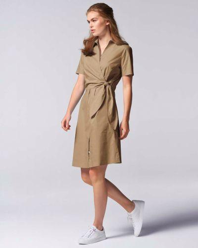 Хлопковое платье - бежевое Bogner