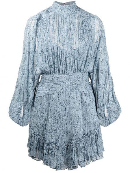 Синее платье с оборками Shona Joy