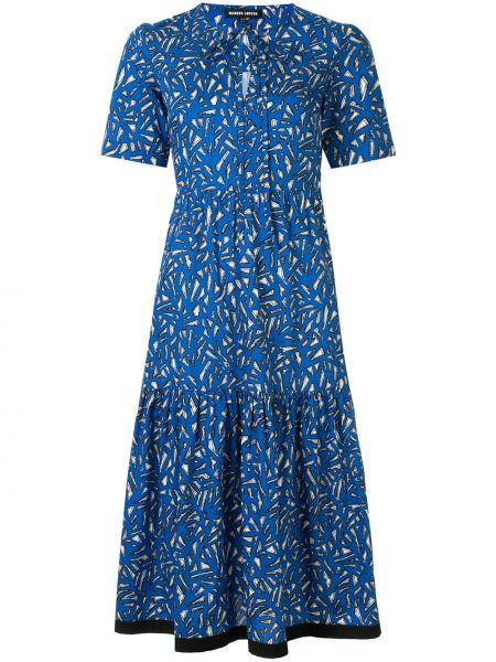 Хлопковое платье миди - синее Markus Lupfer