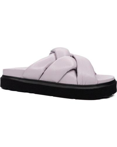 Фиолетовые кожаные шлепанцы Guero