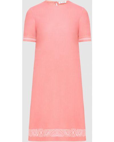 Льняное платье миди - красное Loro Piana