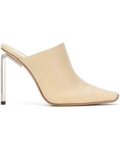 Beżowe sandały skorzane Off-white