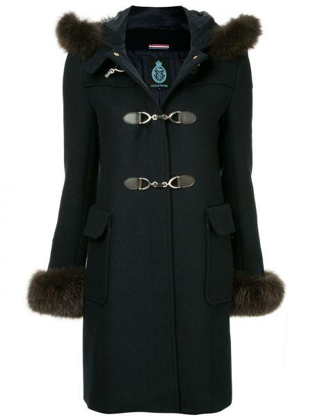 Длинное пальто с капюшоном на пуговицах айвори Guild Prime