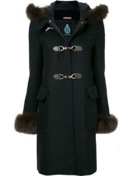 Пальто с капюшоном айвори на пуговицах с капюшоном Guild Prime
