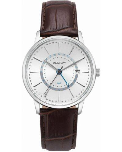 Zegarek kwarcowy srebrny - brązowy Gant