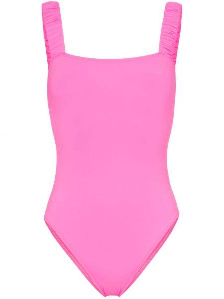 Слитный купальник розовый с вырезом Beth Richards