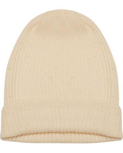 Белая шапка кашемировая Tegin