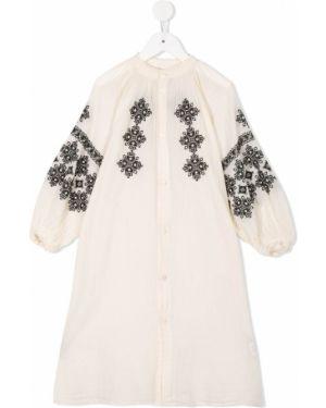 Платье с рукавами на пуговицах Denim Dungaree