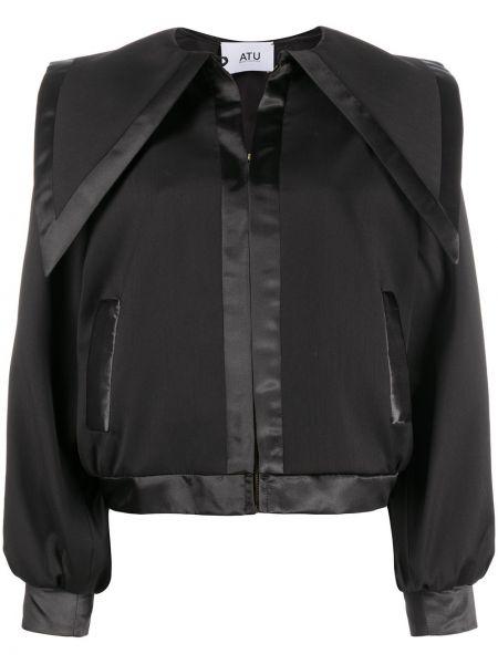 Черная куртка на молнии со вставками Atu Body Couture