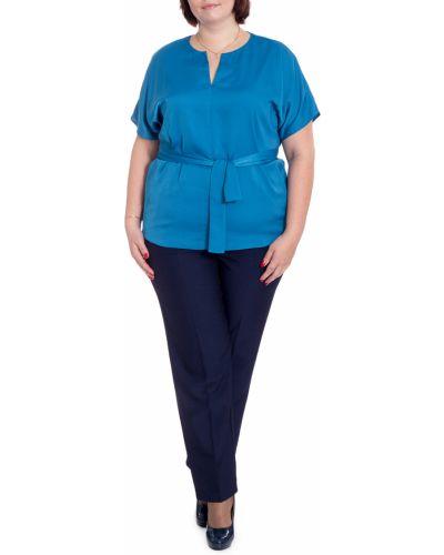 Блузка с поясом средний Lacy_plus