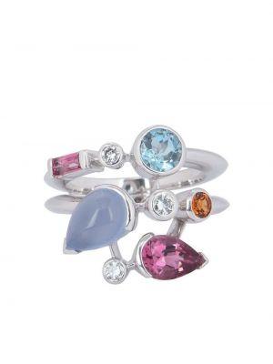 Кольцо с бриллиантом - бирюзовое Cartier