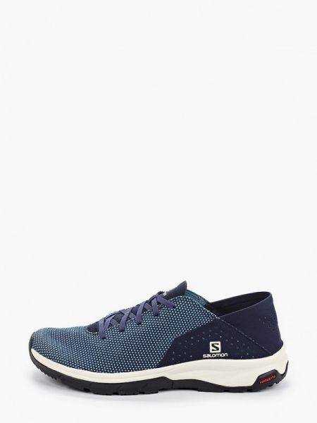 Текстильные кроссовки - синие Salomon