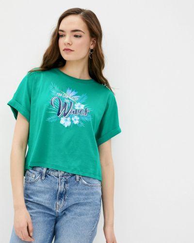 Зеленая футболка с короткими рукавами Guess Jeans