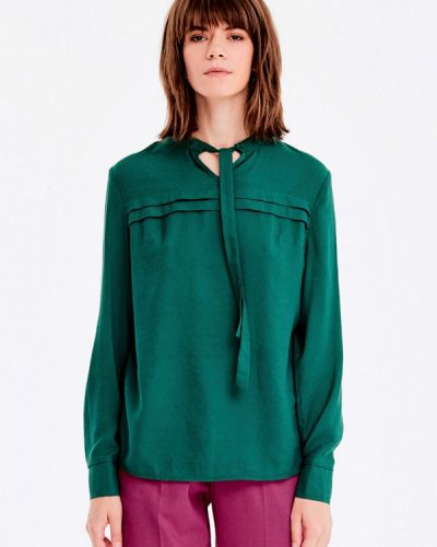 Зеленая блузка с длинным рукавом Musthave