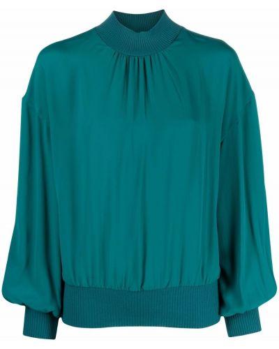 Bluzka z jedwabiu - zielona Boutique Moschino