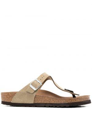 Кожаные с ремешком сандалии с пряжкой Birkenstock