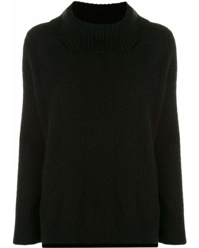 С рукавами шелковый черный джемпер на пуговицах Adam Lippes