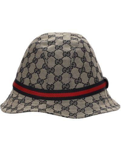 Bawełna beżowy bawełna kapelusz Gucci