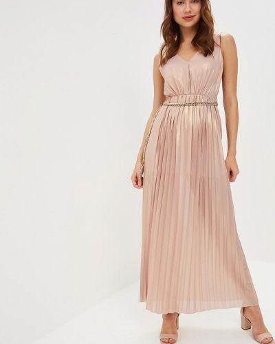 Вечернее платье бежевое итальянский Rinascimento