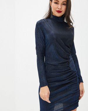Вечернее платье осеннее синее Imocean