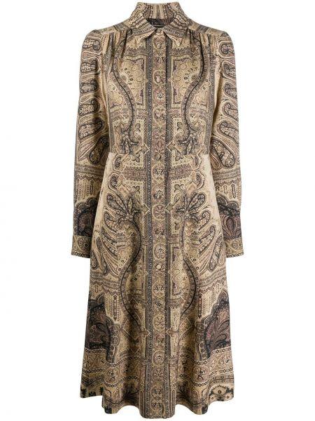 Шелковое платье на пуговицах Etro