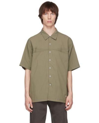 Белая рубашка с короткими рукавами с воротником Gramicci