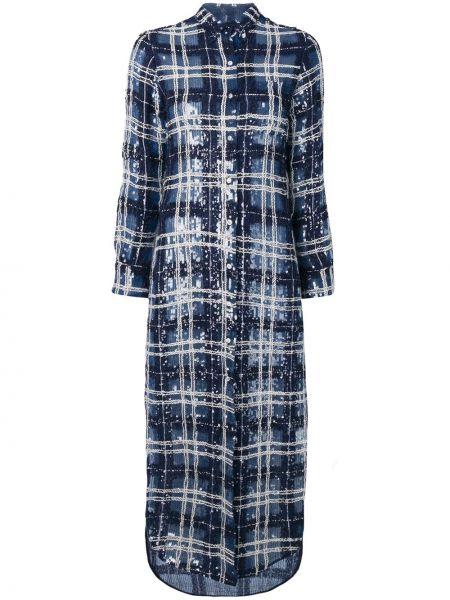 Платье с пайетками на пуговицах Thom Browne