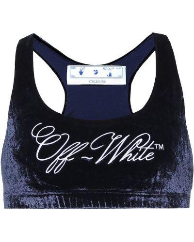 Biały bralet z ozdobnym wykończeniem z wiskozy Off-white