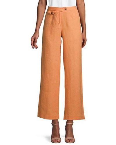 Льняные прямые брюки с карманами 525 America