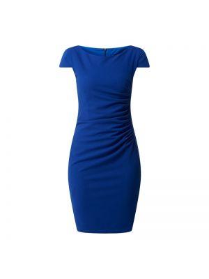 Niebieska sukienka mini krótki rękaw Paradi