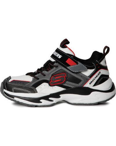 Кожаные спортивные белые кроссовки Skechers