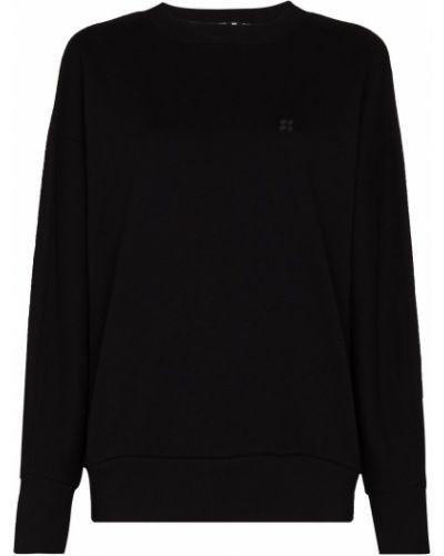 Czarna bluza z haftem z długimi rękawami Sweaty Betty