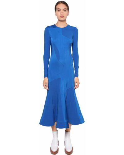 Платье макси длинное - синее Esteban Cortazar