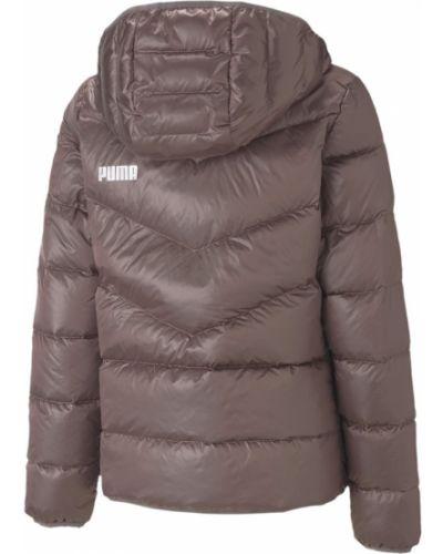 Пуховая розовая куртка с капюшоном Puma