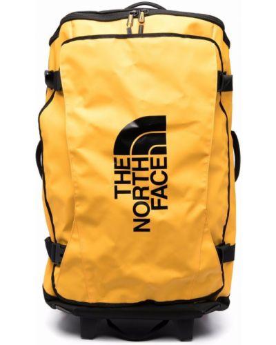 Желтая нейлоновая сумка The North Face