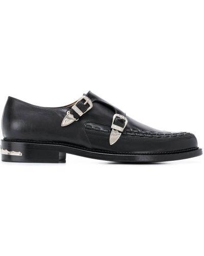 Кожаные черные туфли с пряжкой на плоской подошве Toga Virilis