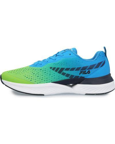 Зеленые кроссовки беговые для бега на шнуровке Fila