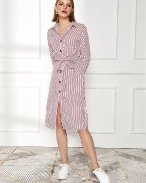 Платье с поясом в полоску платье-майка Zaful