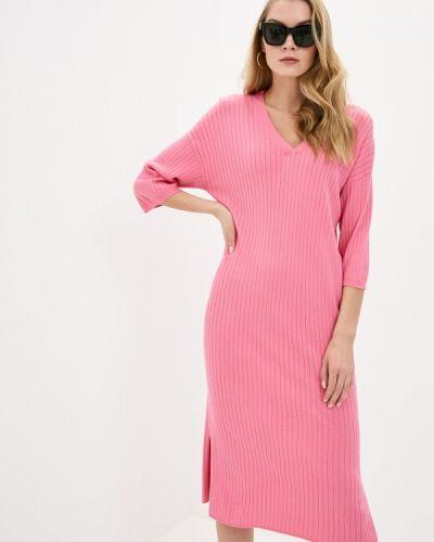 Прямое розовое платье А-силуэта Rodier