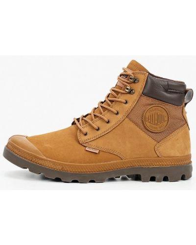 Коричневые кожаные ботинки Palladium