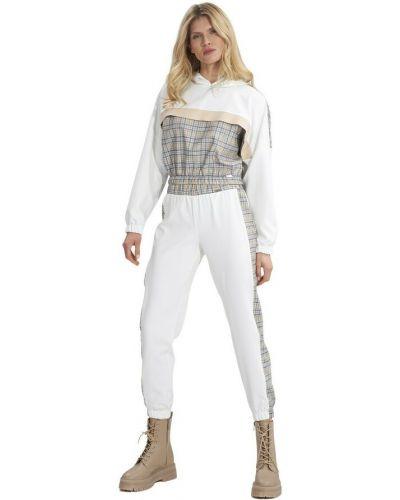 Białe spodnie sportowe Figl